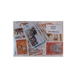 100 timbres de chats
