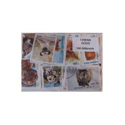 100  timbres de chiens