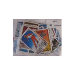 100  timbres de ski