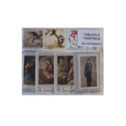 100  timbres de tableaux