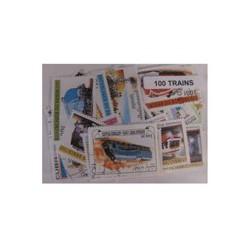 100  timbres de trains
