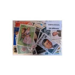 100 timbres de Chefs d'Etats