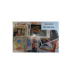 100 timbres sur les religions