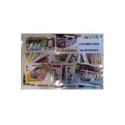 100 timbres de locomotive