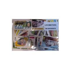 100 timbres de locomotive