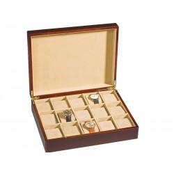 Coffret en bois  pour 15 montres LEUCHTTURM