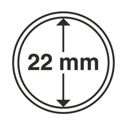 Capsules 22 mm pour monnaies