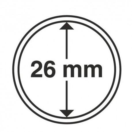 Capsules 26 mm pour les pièces de 2 Euros