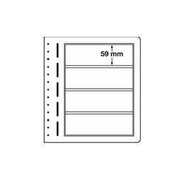 Feuilles LB en papier cartonné 4 bandes