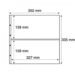 Pochettes plastiques, divisées en 2, transparent