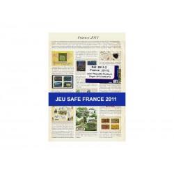 Feuilles France 2011 2ème semestre avec plaquettes couleur