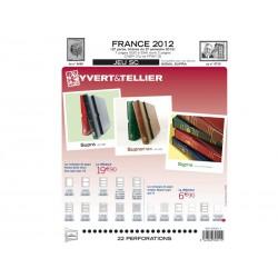 Jeu SC France 2012-2ème semestre YVERT ET TELLIER