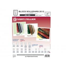 Jeu SC Blocs souvenirs 2012 YVERT ET TELLIER
