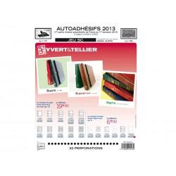 Jeu SC France 2013 Auto adhésifs 1er semestre -YVERT ET TELLIER