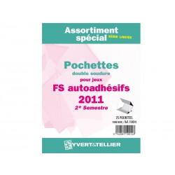 Assortiment de pochettes (double soudure) Auto Adhésifs 2011-2èm