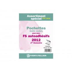 Assortiment de pochettes (double soudure) Auto Adhésifs 2012-2èm