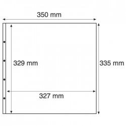 Pochettes plastiques de 1 compartiment noir avec ouverture sur le haut et le côté