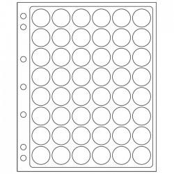 Pochettes plastique ENCAP, transparentes pour 48 capsules de diamètre 22 à 23 mm