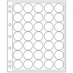 Pochettes plastique ENCAP, transparentes pour 35 capsules de diamètre 28 à 30 mm