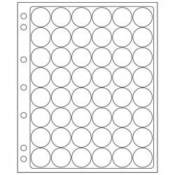 Pochettes plastique ENCAP, transparentes pour 48 capsules de diamètre 23,5 à 26 mm
