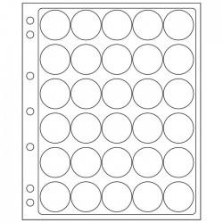 Pochettes plastique ENCAP, transparentes pour 30 capsules de diamètre 30 à 31 mm