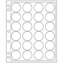 Pochettes plastique ENCAP, transparentes pour 24 capsules de diamètre intérieur de 36 à 37 mm