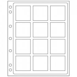 Pochettes plastique ENCAP, transparentes pour 12 pièces sous capsules Quadrum XL