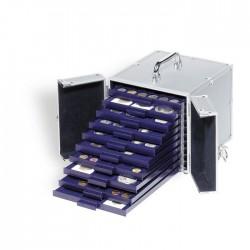 Valisette Numismatique en aluminium CARGO S 10, pour 10 Médailliers SMART