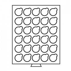 Petit Médaillier SMART pour 42 cases de 26 mm (2 euros sous capsules)