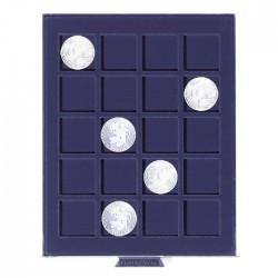 Petit Médaillier SMART pour 42 cases carrées de 26 mm (2 euros sous capsules)