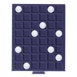 Petit Médaillier SMART pour 48 cases carrées de 24 mm (1 Euro, 50 cents)