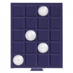 Petit Médaillier SMART pour 20 cases carrées de 41 mm (10 Euros sous capsules)