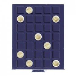 Petit Médaillier SMART pour 35 cases carrées de 27 mm (2 Euros)