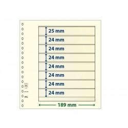 Feuilles neutres T à 8 bandes