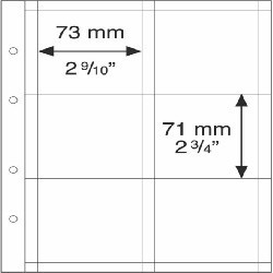 Feuilles OPTIMA K65, 6 cases pour pièces encadrées