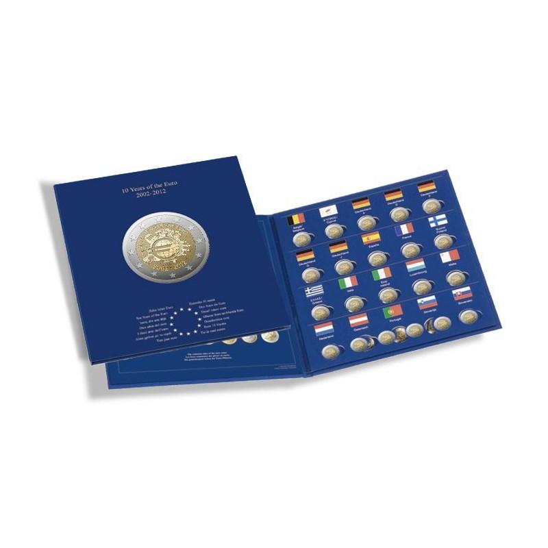 Album 2 Euros commémoratives PRESSO, 10 ans de...