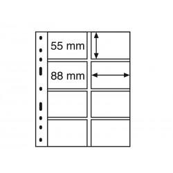 Feuilles OPTIMA transparentes pour télécartes