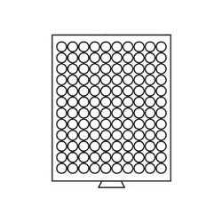 Médailler 120 cases circulaires de 16,5 mm