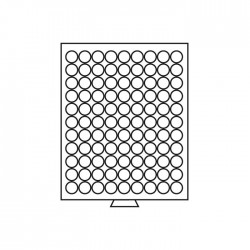 Médailler 99 cases circulaires de 18,5 mm