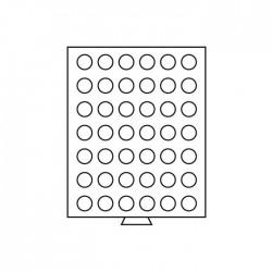 Médailler 54 cases circulaires de 27 mm