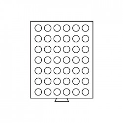 Médailler 42 cases circulaires de 27,5 mm