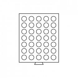 Médailler 35 cases circulaires de 30 mm