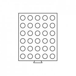 Médailler 35 cases circulaires de 32.5 mm