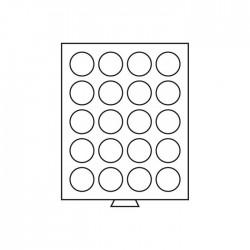 Médailler 30 cases circulaires de 37 mm