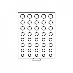 Médailler 30 cases circulaires de 36 mm