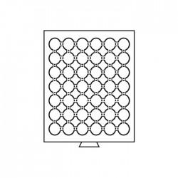 Médailler 48 cases pour pièces sous capsules de 23 mm intérieur