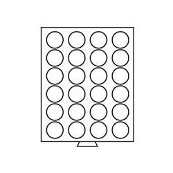 Médailler 30 cases pour pièces sous capsules de 33 mm intérieur