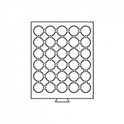 Médailler 30 cases pour pièces sous capsules de 32/32.5 mm intérieur