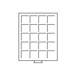 Médailler 20 cases carrées de 42 x 42 mm