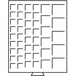 Médailler 12 cases carrées de 69 x 62 mm